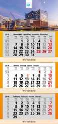 Hamburg Mehrmonatskalender