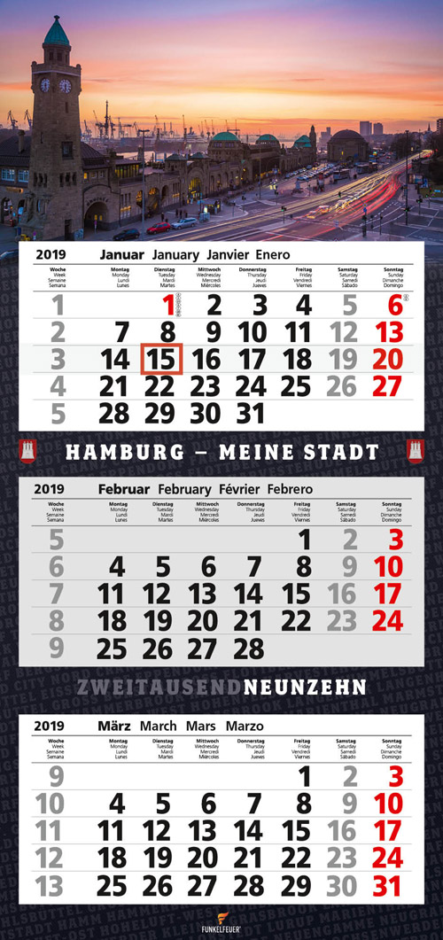 3-Monatskalender Hamburg